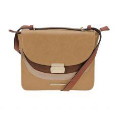 Gionni Tahira Suede Colour Block Flapover Crossbody Bag