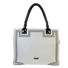 Gionni Calinda White Tote Bag