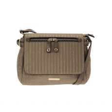 Gionni Camel Ekoi Stripped Crossbody Bag