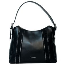 Gionni Studded Black Hobo Bag