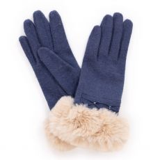 Powder Tamara Navy Wool Gloves