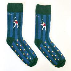 Irish Socksiety Golf Socks, Front view of sock