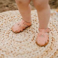 Goose & Gander Alina Blush Leather Sandals