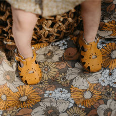 Goose-Gander-Alina-Yellow-Leather-Sandals