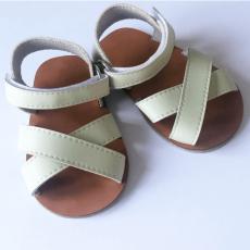 Goose & Gander Helia Sage Leather Sandals