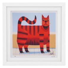 Graham Knuttel Framed Print - Cat (63Cm X 63Cm)
