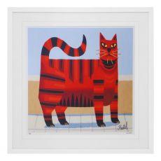 Graham Knuttel Framed Print - Cat (33Cm X 33Cm)