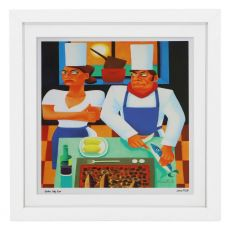 Graham Knuttel Framed Print - Fishy Rum (63Cm X 63Cm)