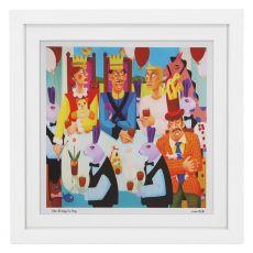 Graham Knuttel Framed Print - The Kings Tea Party (63Cm X 63Cm)