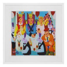 Graham Knuttel Framed Print - The Kings Tea Party (33Cm X 33Cm)