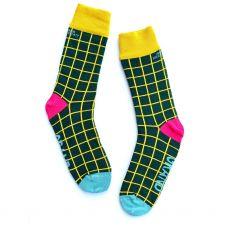 Irish Socksiety Grand Green Socks, side view of socks