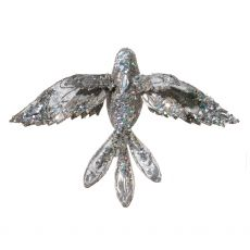 Grey Flying Bird Clip Decoration