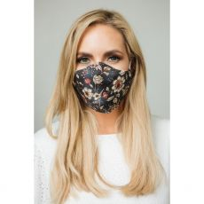Grey Pansy Cloth Face Mask