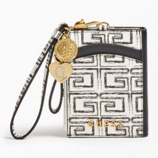 Guess Card Case Keyring White