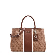 Guess Cathleen 4G Logo Brown Handbag