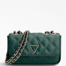 Guess Cessily Micro Mini Quilted Green Crossbody