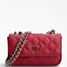 Guess Cessily Micro Mini Quilted Red Crossbody