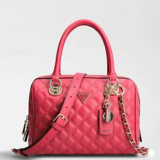 Guess Cessily Quilted Red Box Handbag