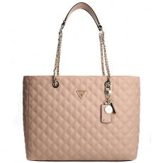 Guess Cessily Quilted Cognac Tote Bag