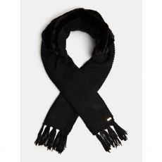 Guess Faux Fur Cable Scarf Black