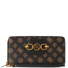 Guess Hensely 4g Peony Logo Brown Organiser Wallet