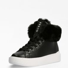 Guess Histori Faux Fur High-Top Trainers