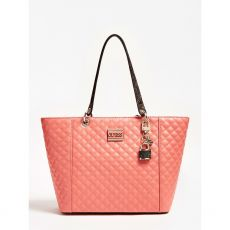 Guess Kamryn Coral Quilted Tote