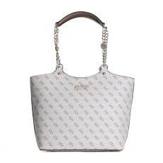 Guess Lorenna White Carryall Handbag