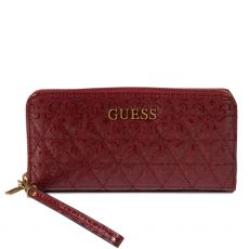 Guess Noelle Quilted Red Maxi Wallet