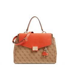 Guess Valy Rust Logo Satchel