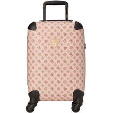 Guess Wilder 4g Peony Logo 4 Wheel Pink Suitcase