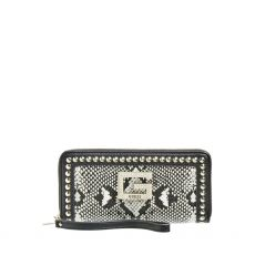 Guess Bling Zip Around Black Wallet