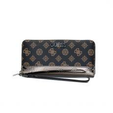 Guess Dalma Zip Around Brown Wallet