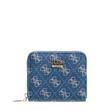 Guess Tyren Small Blue Zip Wallet