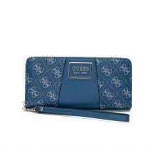Guess Tyren Zip Around Blue Wallet
