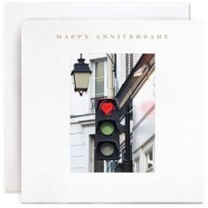 Happy anniversary traffic lights card
