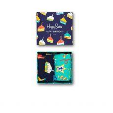Happy Socks 2-Pack Birthday Cake Socks Gift Set