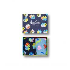 Happy Socks 2-Pack Happy Birthday Men's Sock Gift Set