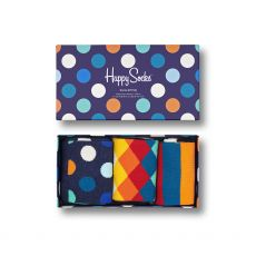 Happy Socks 3-Pack Classic Multi-Color Ladies Gift Set