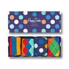 Happy Socks 4-Pack Classic Multi-Color Men's Gift Set