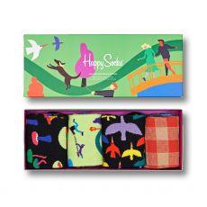 Happy Socks 4-Pack Into The Park Men's Sock Gift Set