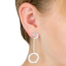 Lovethelinks Silver Single Drop Earrings