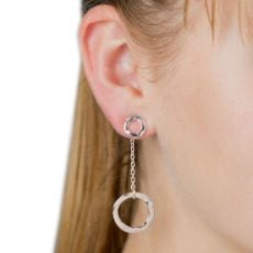 Lovethelinks Rose Gold Plated SingleDrop Earrings