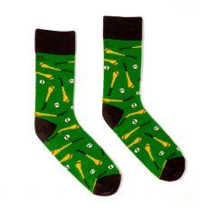 Irish Socksiety Hurling 'Pull Hard' Socks, Side view of socks