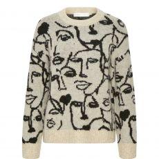 InWear Tessa Abstract Print Pullover Stone