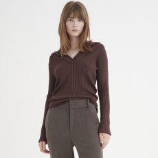 InWear Trinne Rib Knit Top Coffee model