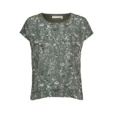 InWear Sicily Floral Print Green T-Shirt
