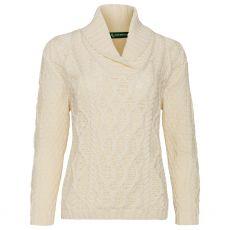 Irelands Eye Bramble Aran Natural Sweater