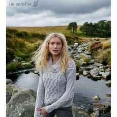 Irelands Eye Bramble Aran Silver Sweater
