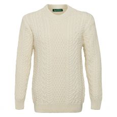 Irelands Eye Cuileann Aran Natural Sweater